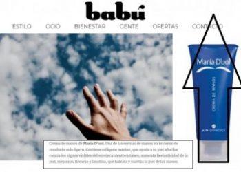 Maria D'uol hand cream in Babú