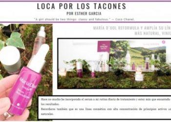 VINUM line in the blog LOCA POR LOS TACONES